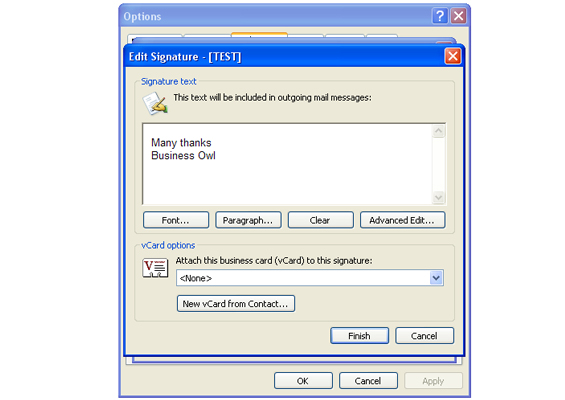 How to create an email signature